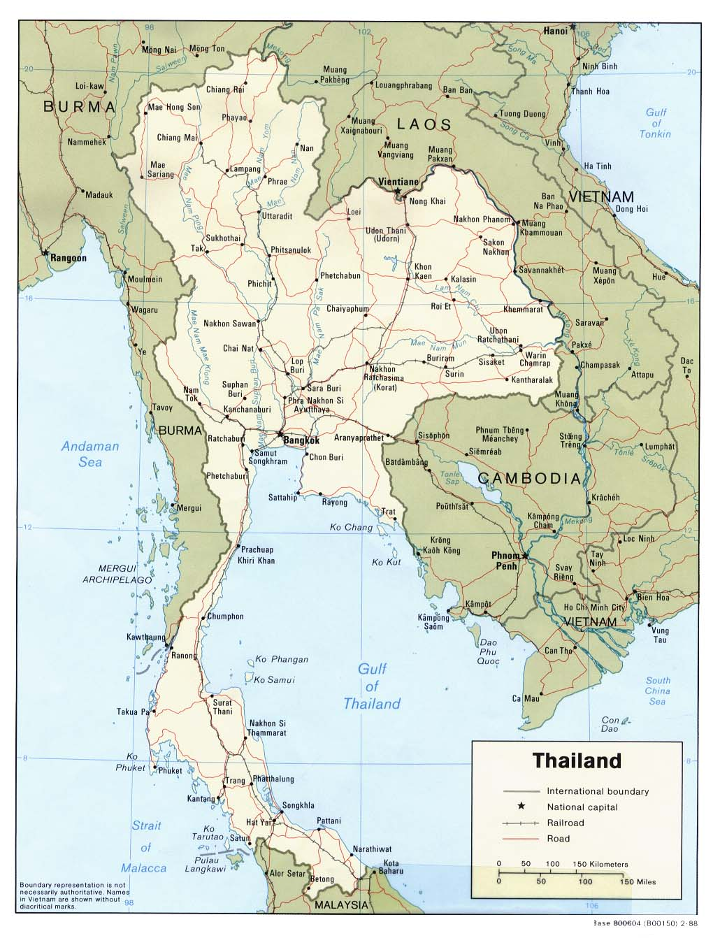 Download Free Thailand Maps