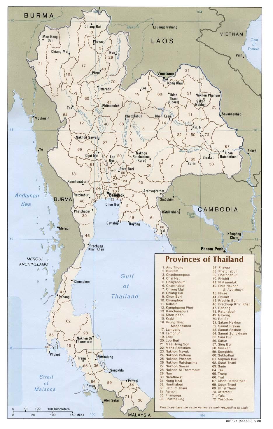 Download Free Thailand Maps - Thailand map