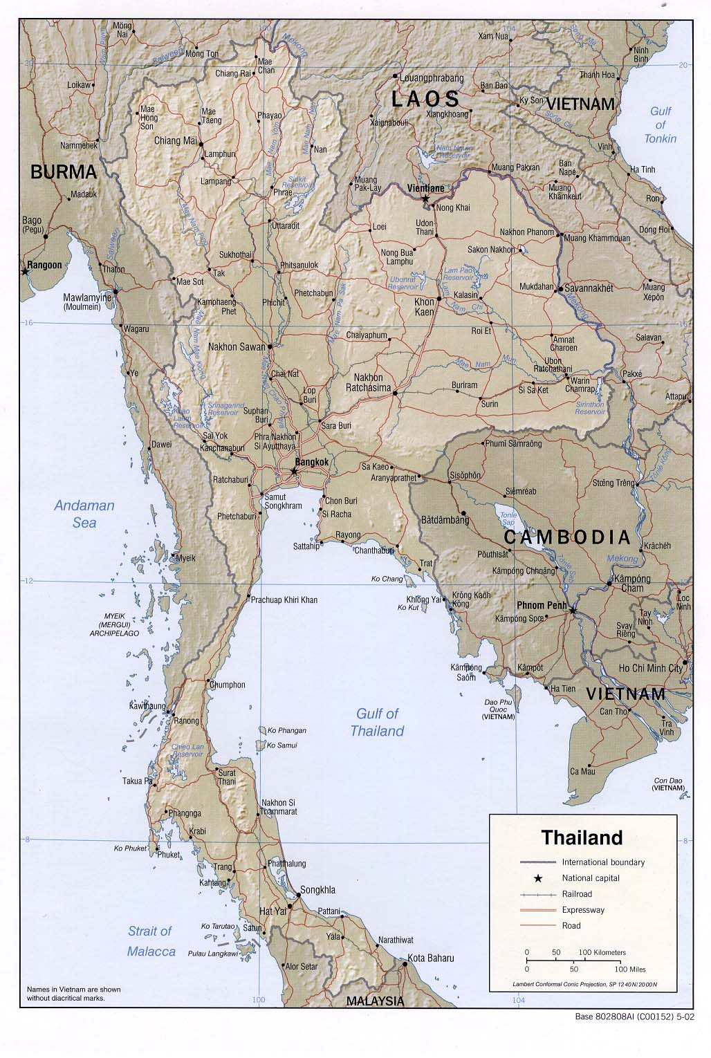 Download Free Thailand Maps - Burma clickable map