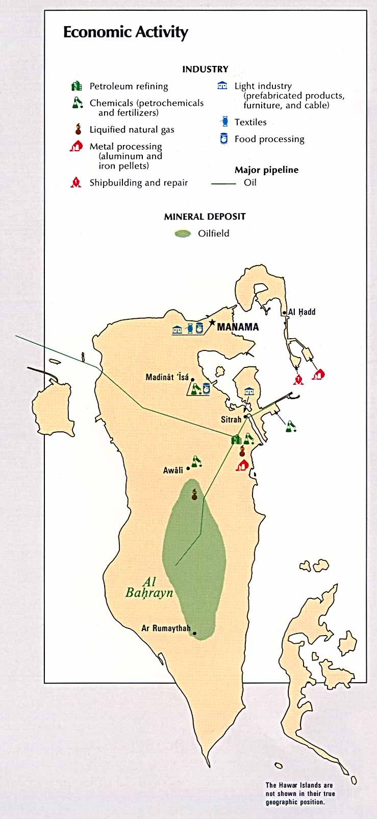 Bahrain Map of Middle East Middle East Map Bahrain