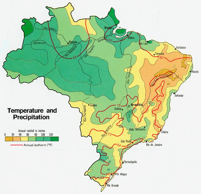 Download free world climate maps brazil temperature and precipitation gumiabroncs Gallery