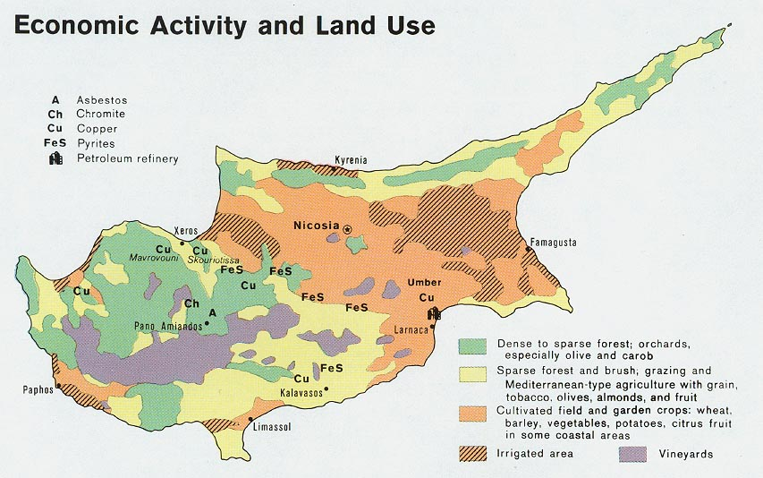 Download free world industry and economy maps cyprus economic activity and land use from map gumiabroncs Choice Image