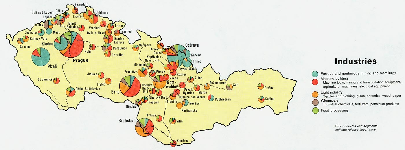 Download free world industry and economy maps czech and slovak republics czechoslovakia industries from map gumiabroncs Images