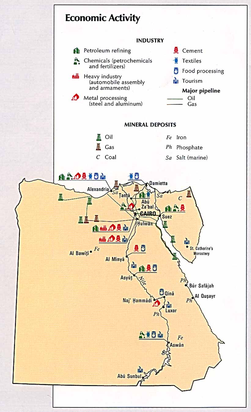 Geography Modern Egypt - Egypt natural resources