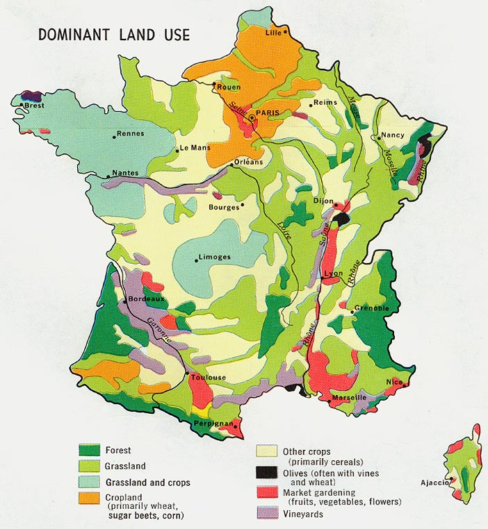 Climate Zone Map Of France.Population And Settlement