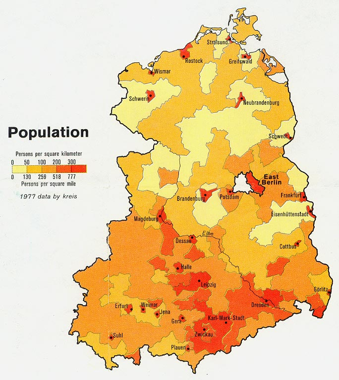 a population density map of east germany for 1977 684 768