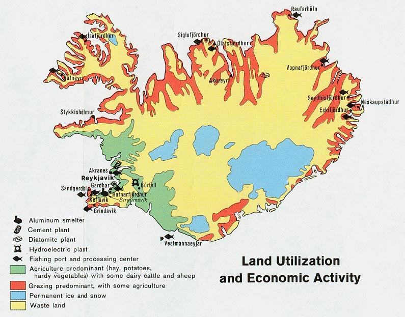 Download Free World Landuse Maps: Island Dichtekarte