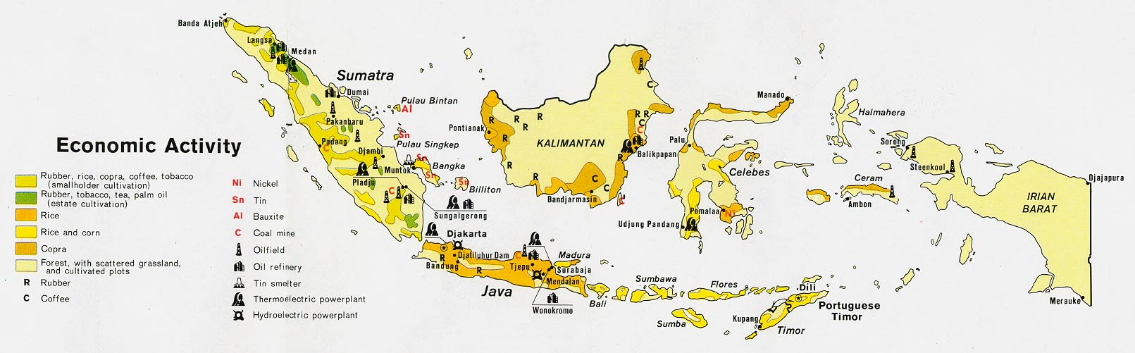 Climate Map Of Indonesia Indonesia - Economic Activity