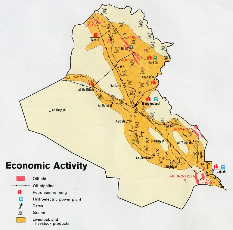 Map Of Natural Resources In Iraq