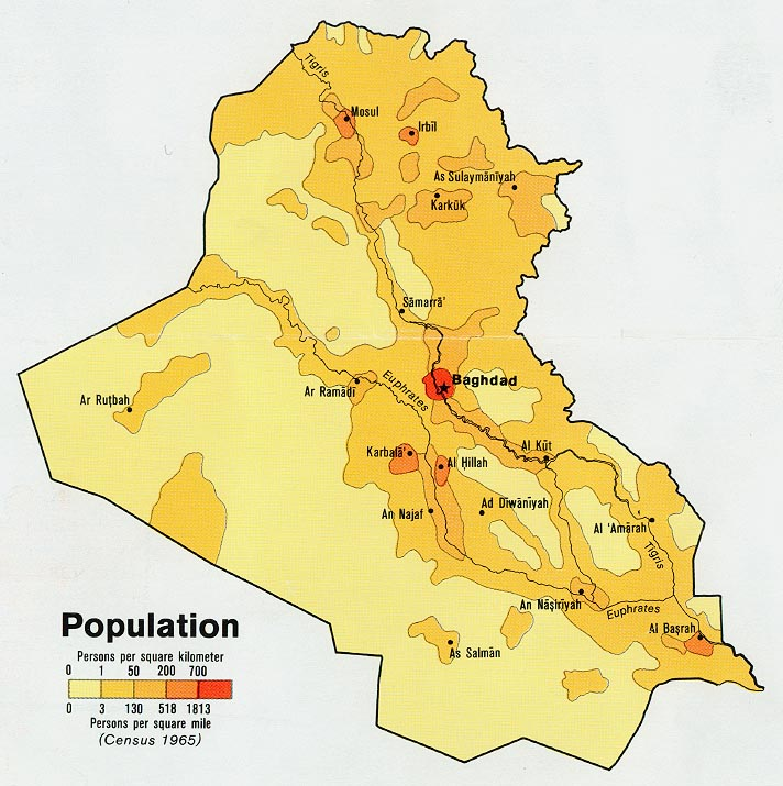 Download free world population maps iraq population from map sciox Gallery