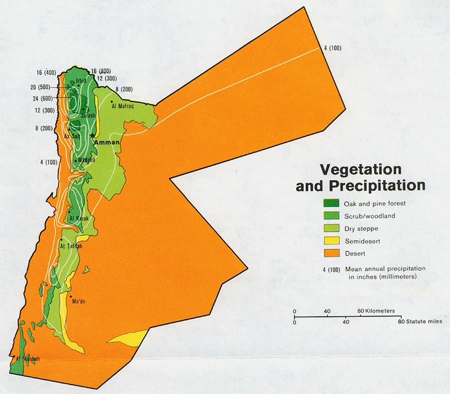 Download Free World Landuse Maps - Jordan map download