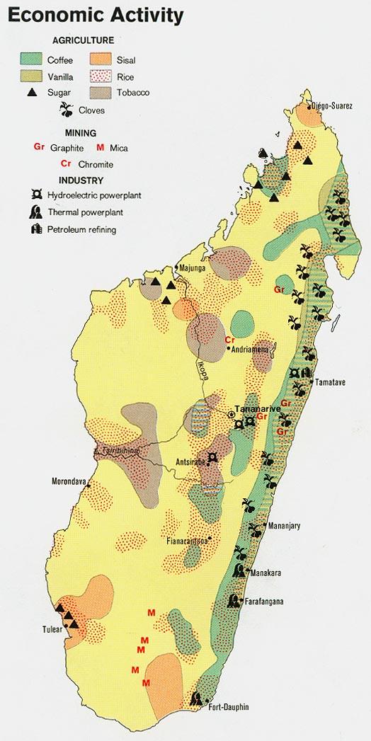 Download free world industry and economy maps madagascar economic activity gumiabroncs Choice Image