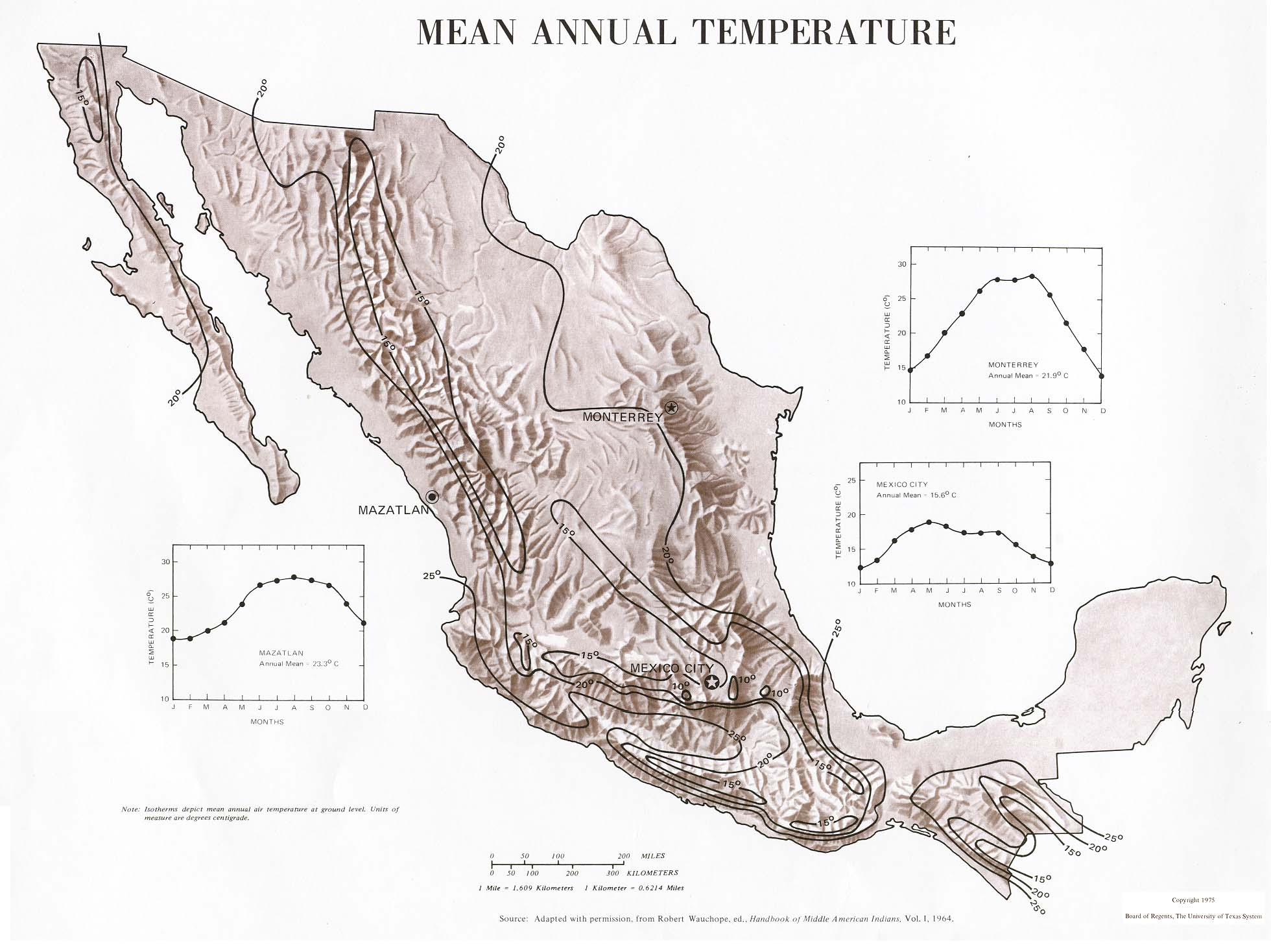 Download Free World Climate Maps - Mexico climate map