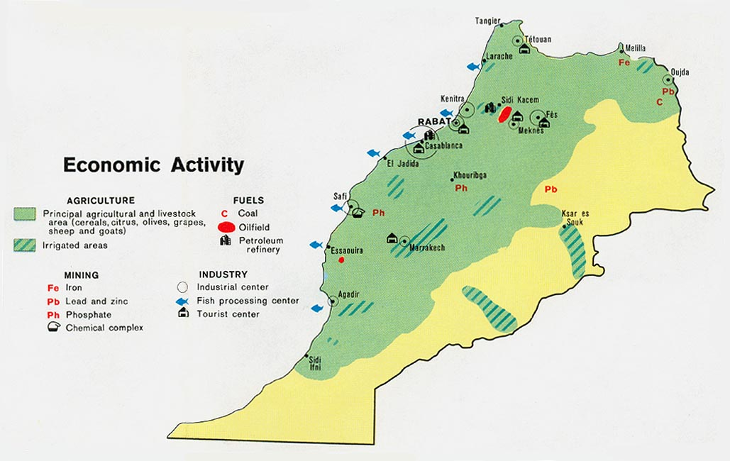 Download free world industry and economy maps morocco economic activity gumiabroncs Choice Image