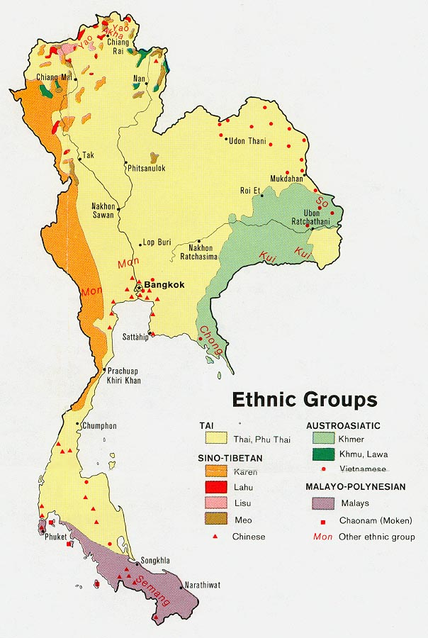 thailand ethnic groups