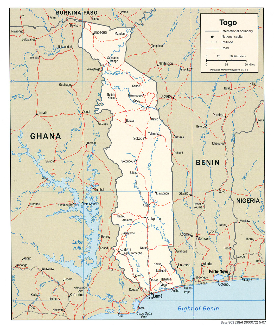 Download Free Togo Maps