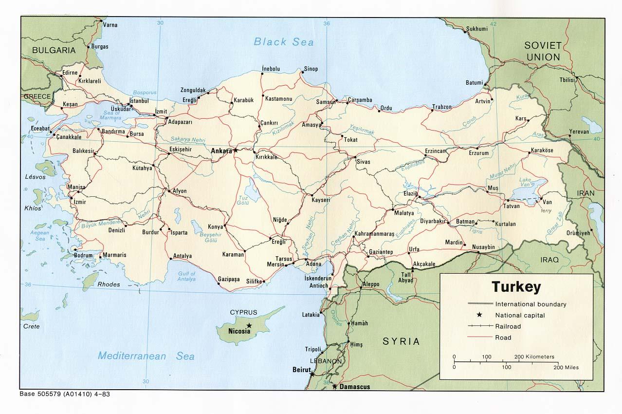 Download Free Turkey Maps