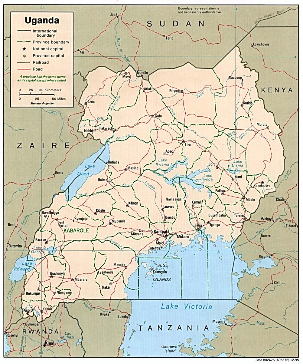 Download free uganda maps sciox Gallery