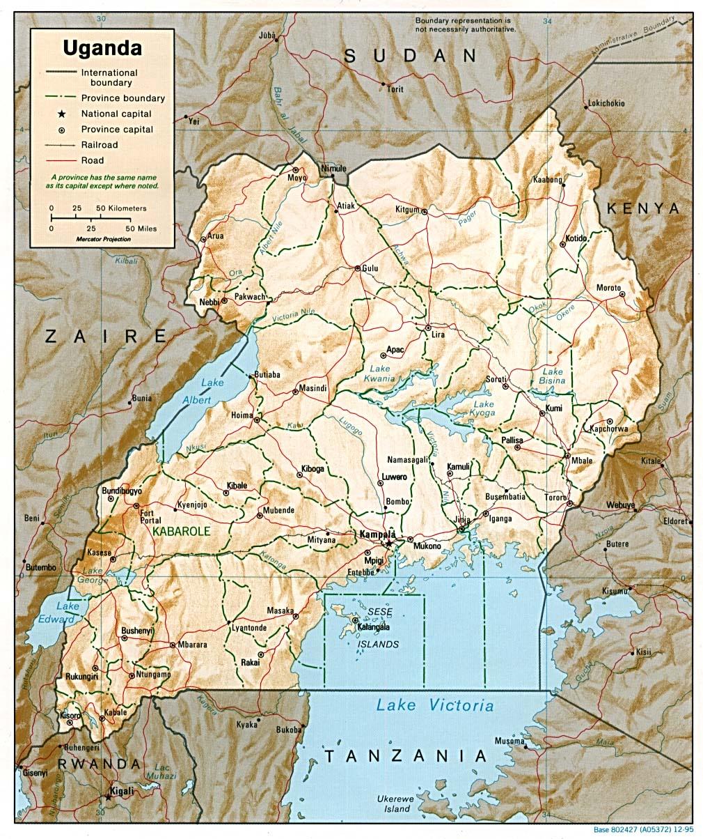 Download Free Uganda Maps - Free satellite maps online