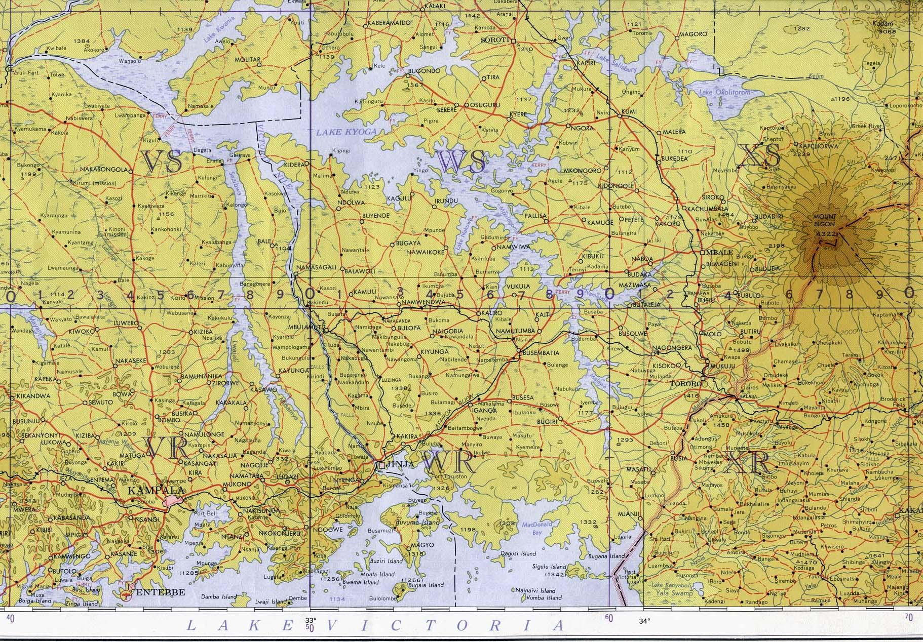 Topographic Map Downloads.Download Free Uganda Maps