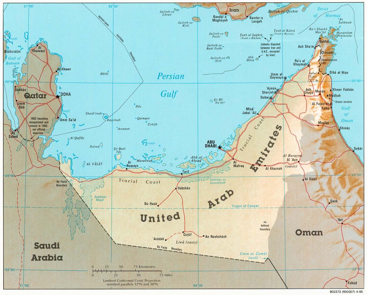 Download Free United Arab Emirates Maps – Dubai United Arab Emirates Map