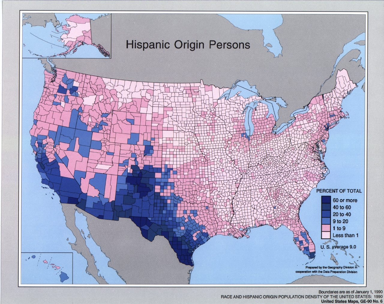 Hispanic Origin Persons 1990