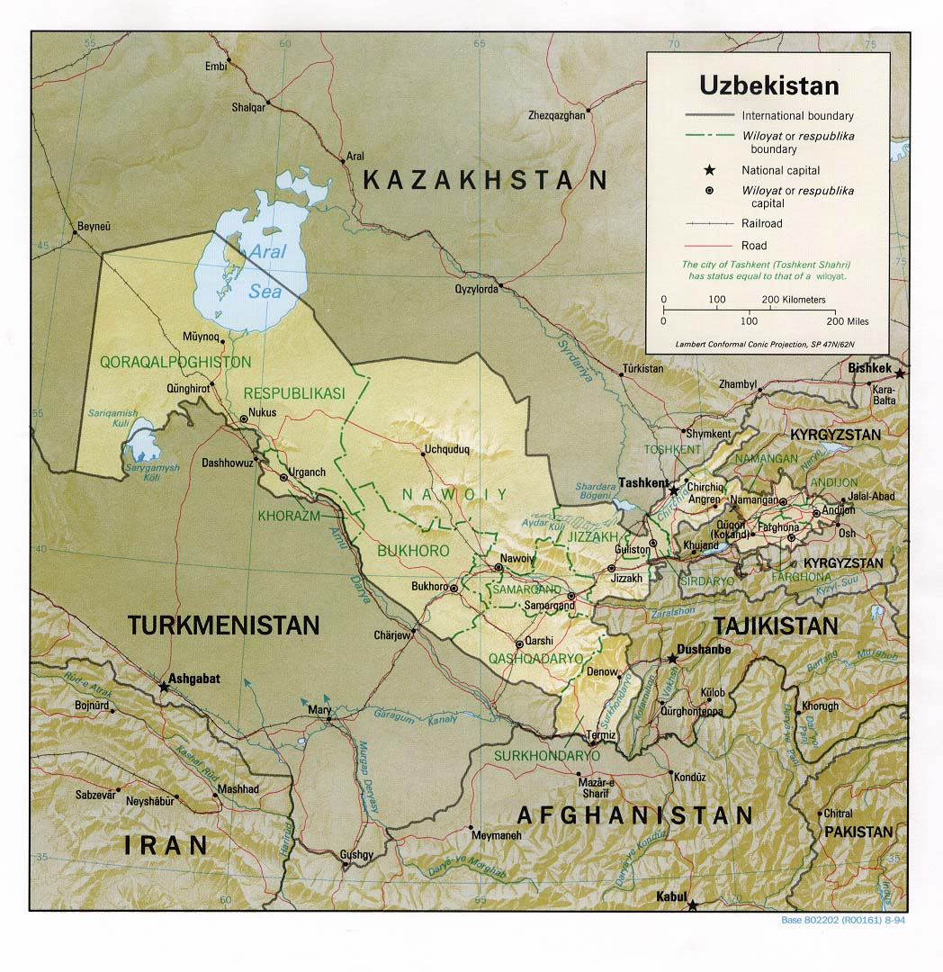 Download Free Uzbekistan Maps