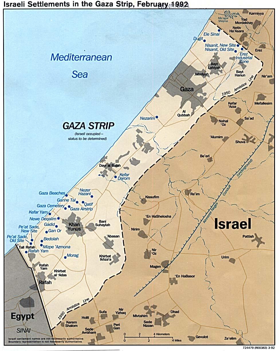 Gaza strip geographical info pics 992