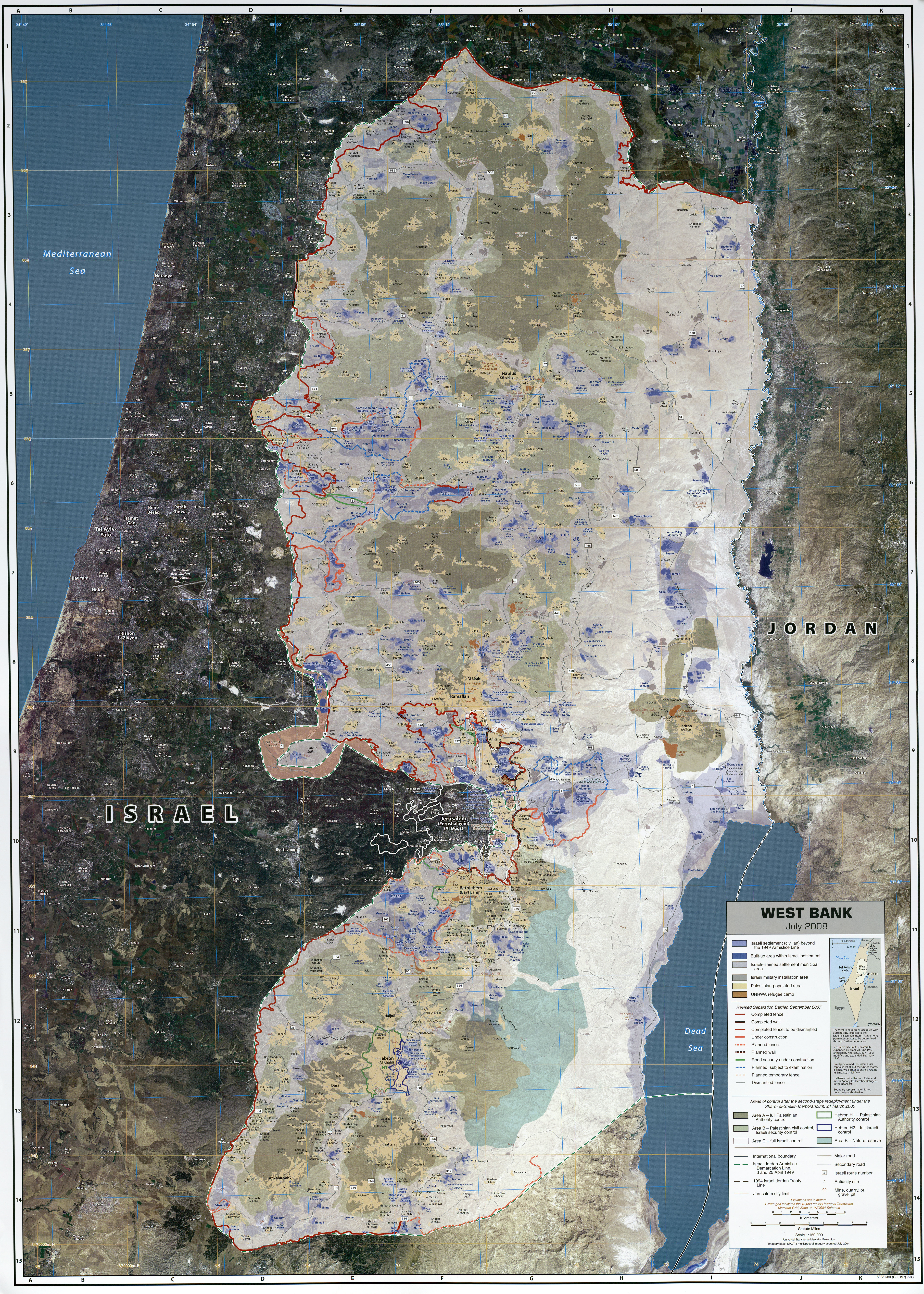 Download Free Gaza Maps - Jordan map download