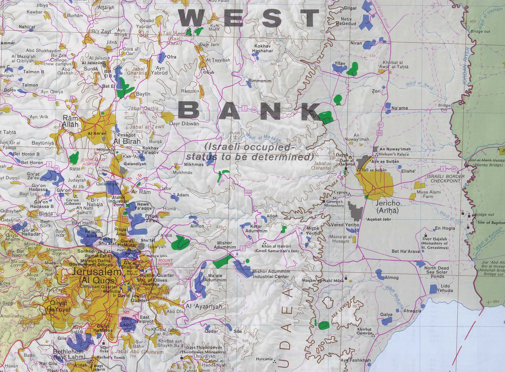 Download free palestine maps west bank jerusalem and east includes jericho gumiabroncs Image collections