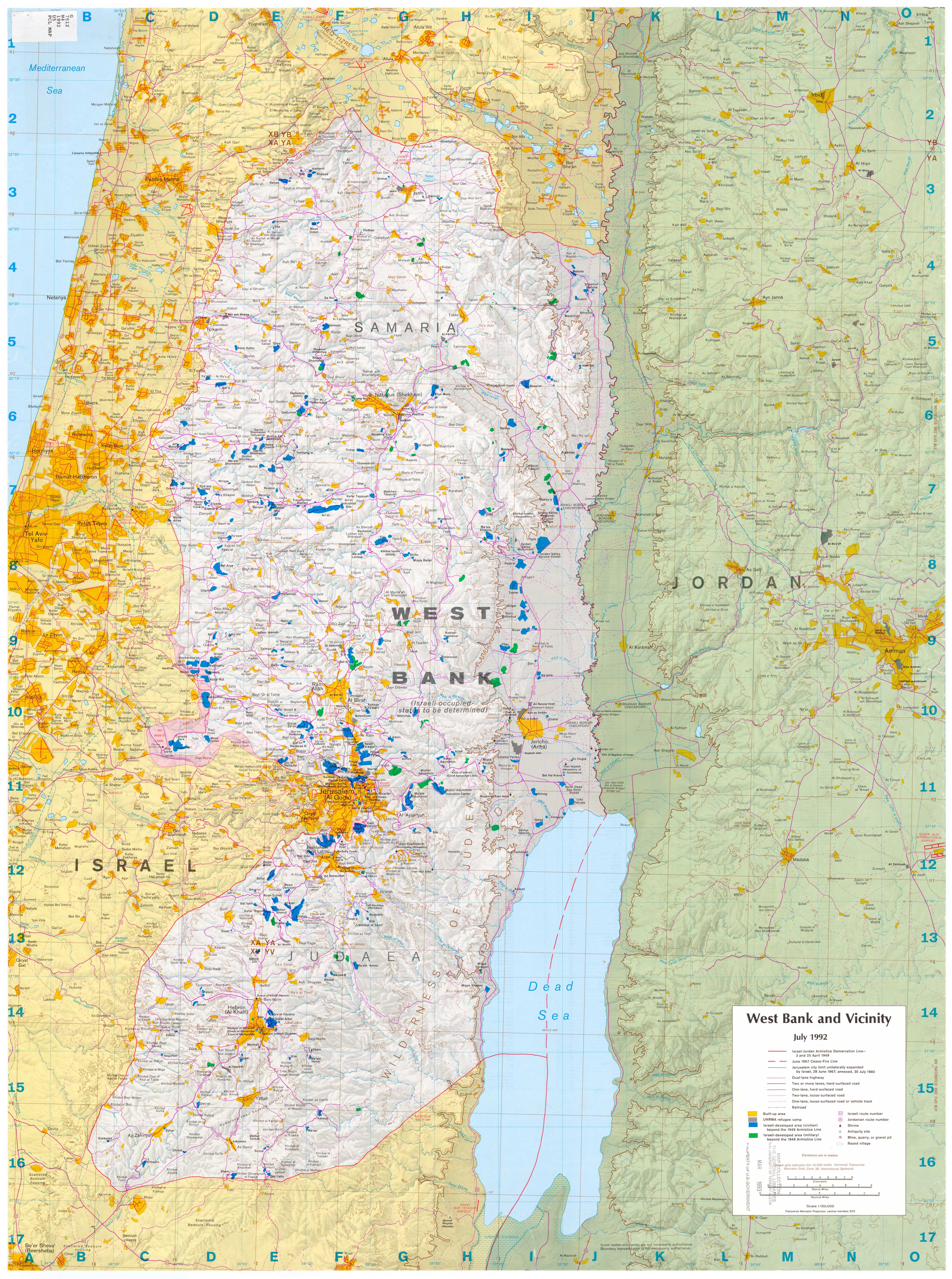 Download Free Gaza Maps - Los angeles pollution map
