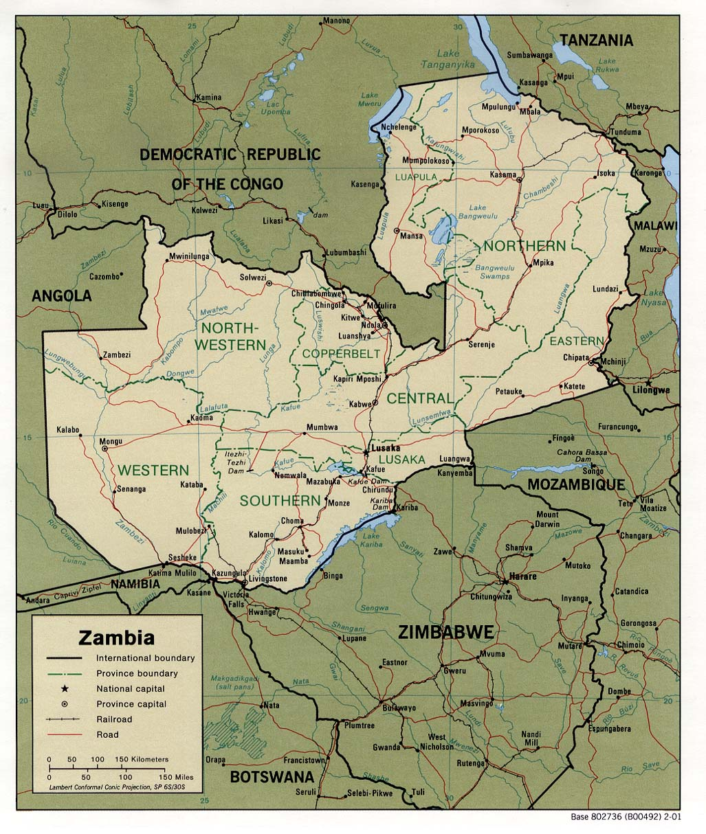 Download Free Zambia Maps