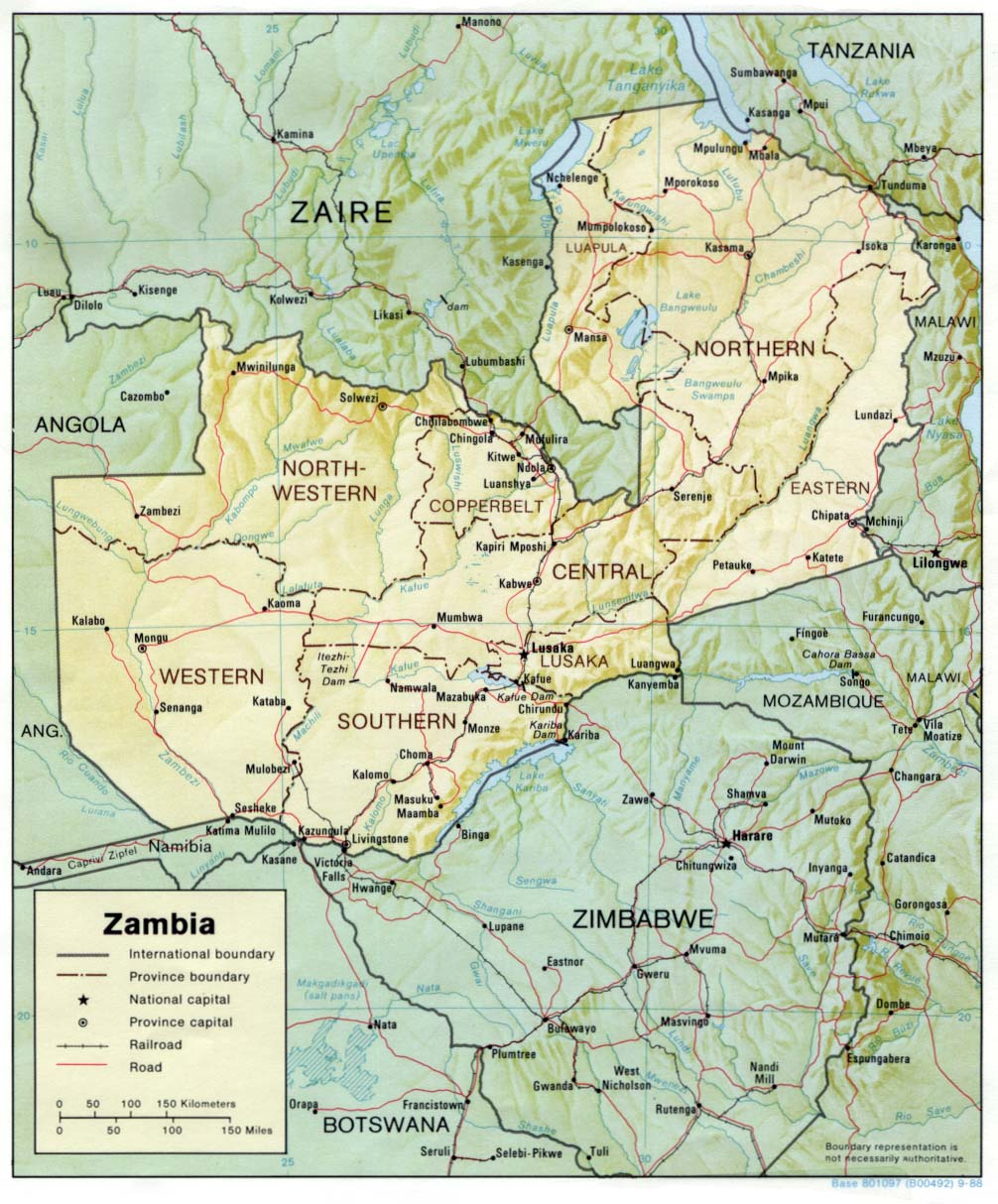 Download free zambia maps zambia shaded gumiabroncs Image collections