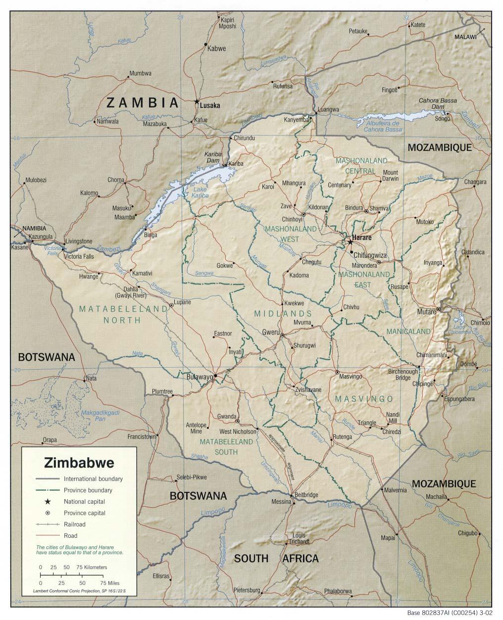 Download Free Zimbabwe Maps
