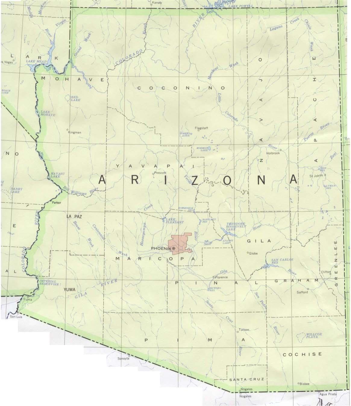 Download Free Maps Of Arizona