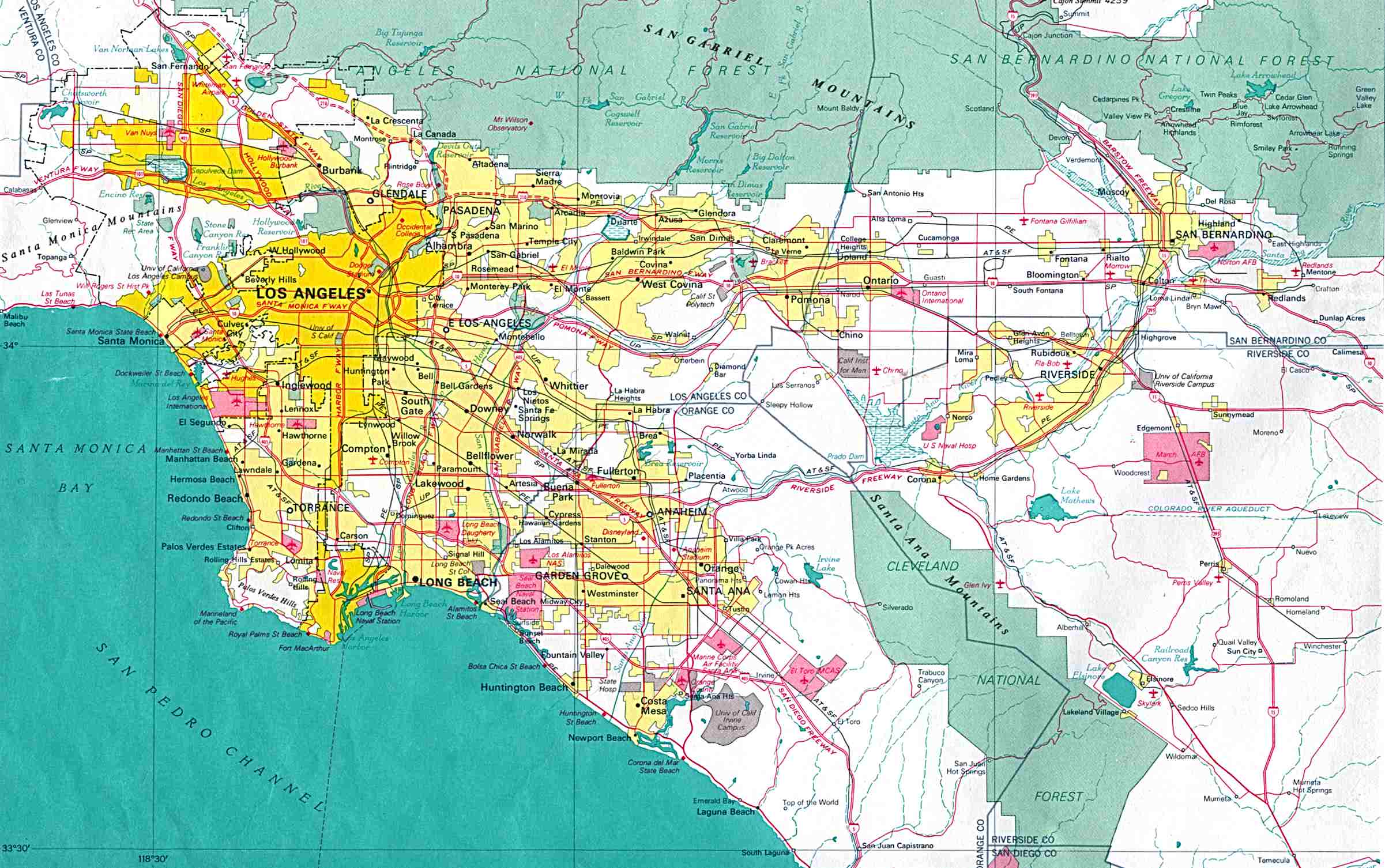 Download Free Maps Of California - Los angeles fault zone map