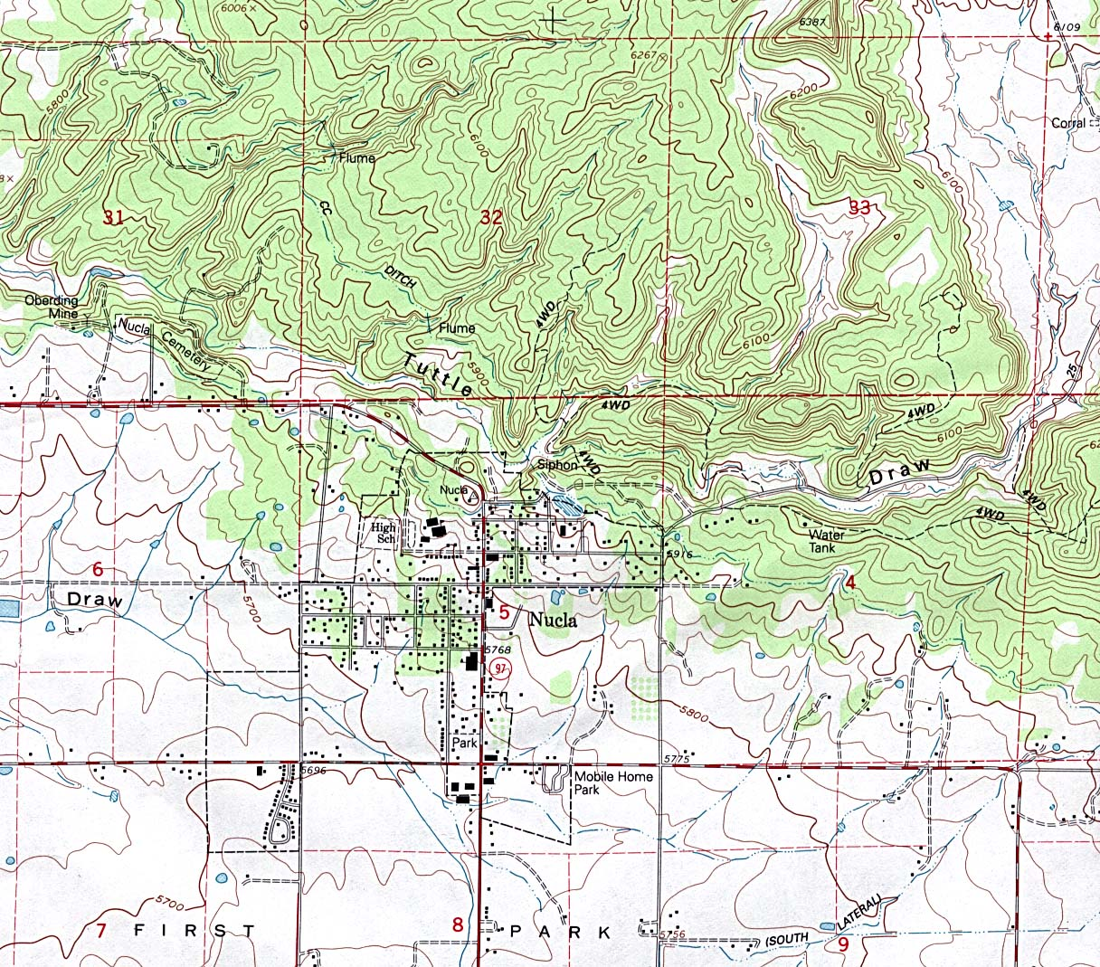 Download free maps of colorado nucla topographic gumiabroncs Choice Image