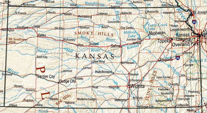 Download Free Maps of Kansas