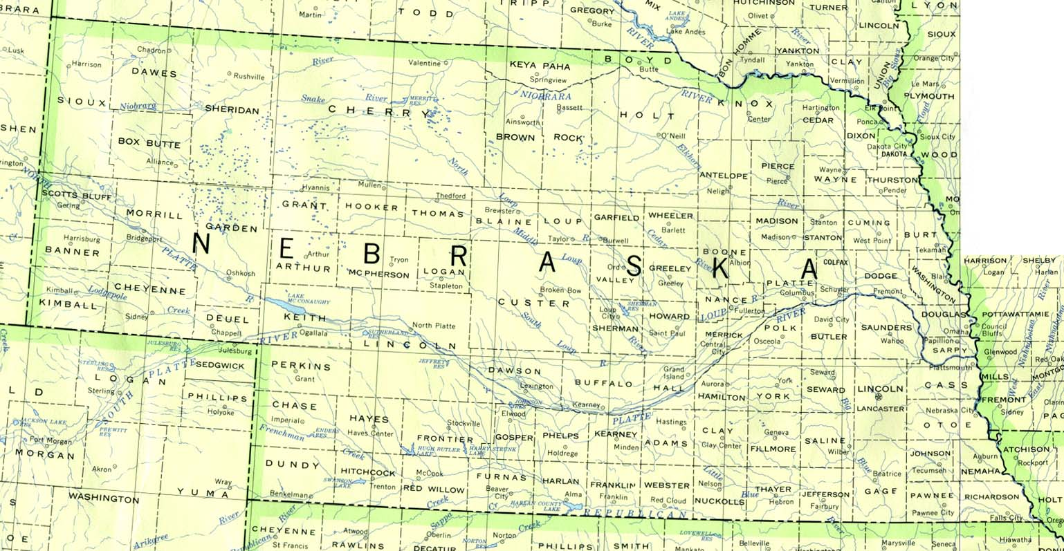 Free Nebraska Map.Download Free Nebraska Maps