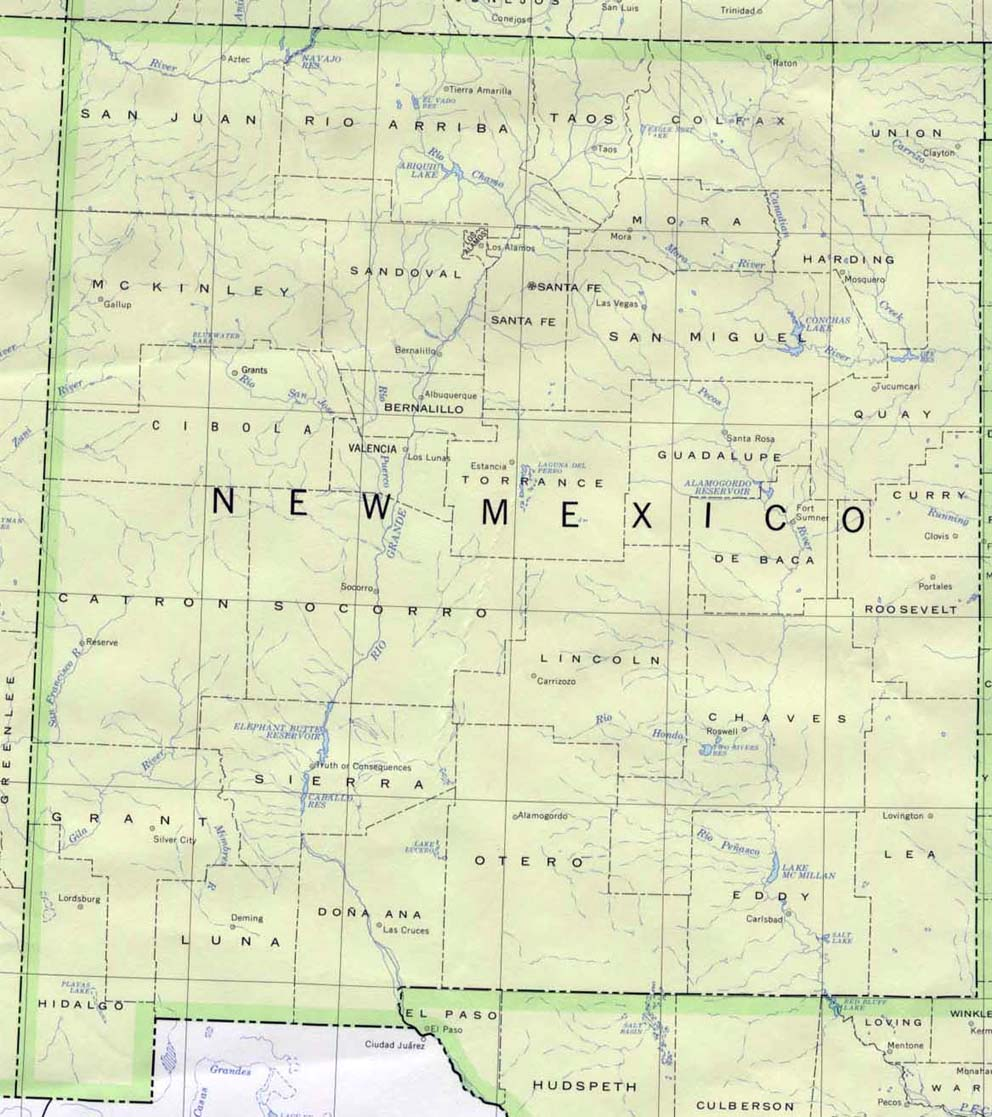 Free New Mexico Map.Download Free New Mexico Maps