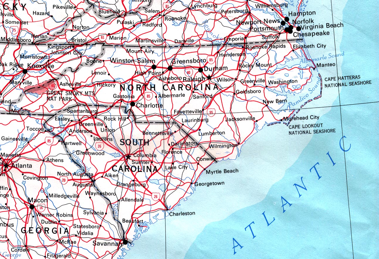 Download Free North Carolina Maps