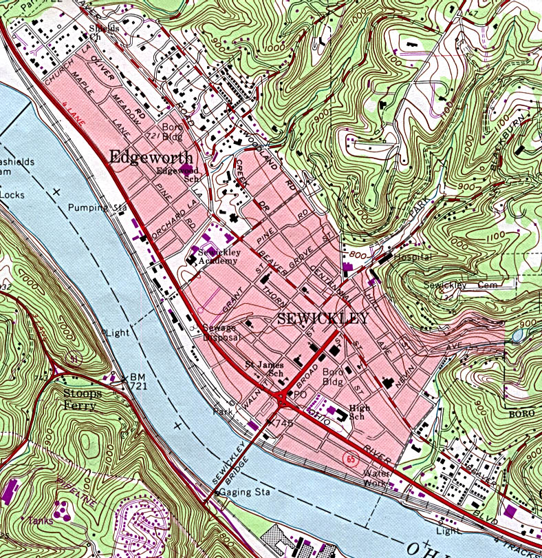 sewickley topographic