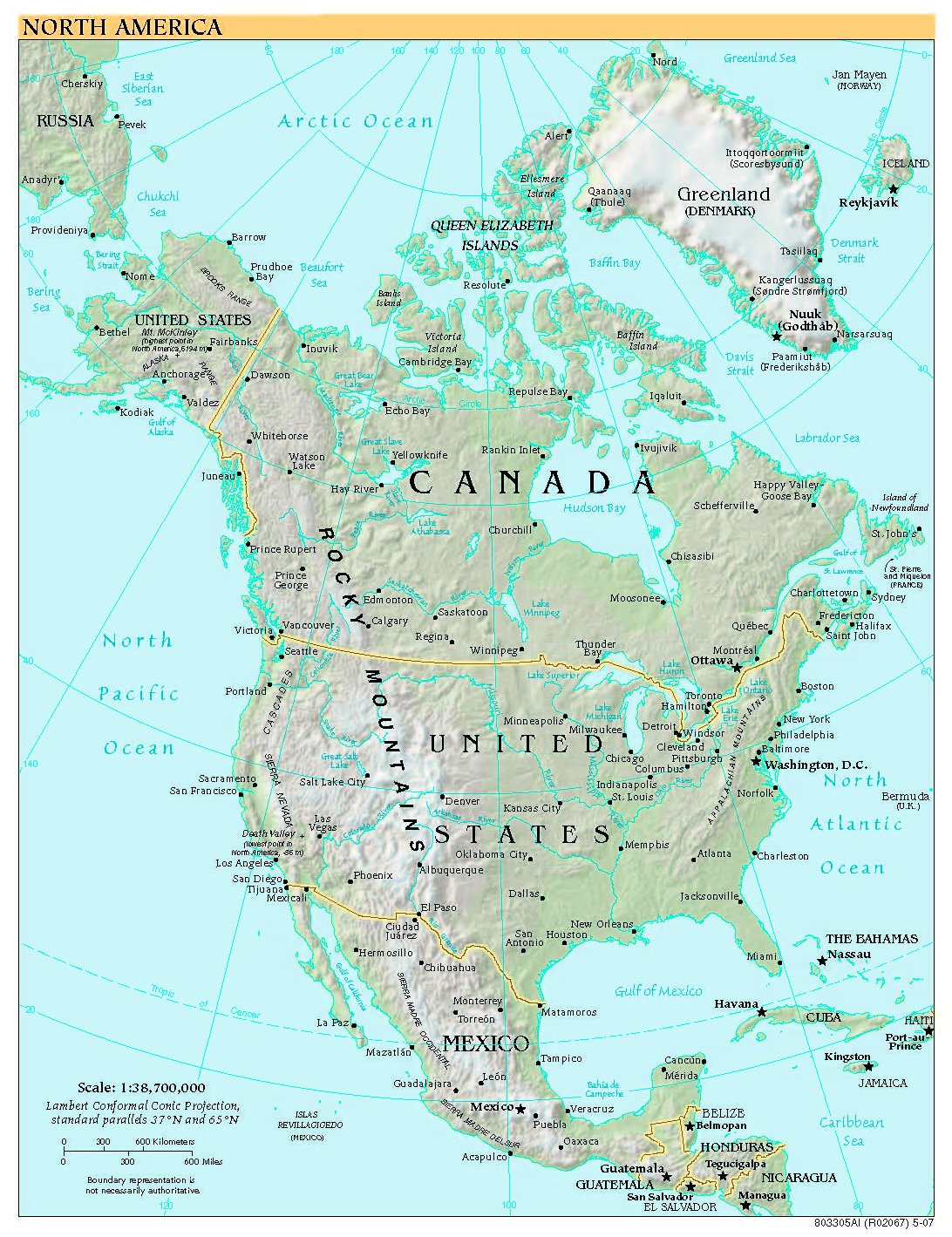 Free North America Map.Free High Resolution Map Of North America
