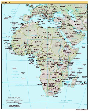 Free high resolution map of africa exceptionally nice high quality map images of africa from the cia world factbook 2008 gumiabroncs Image collections