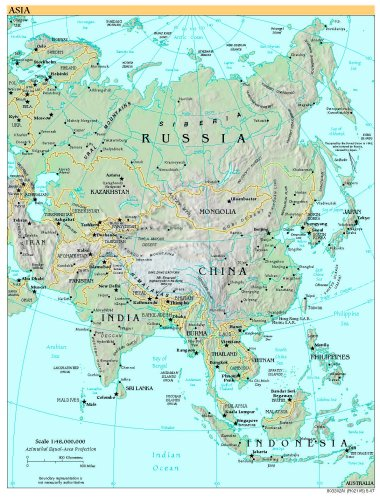 World Map Asia Hd.  Free High Resolution Map of Asia