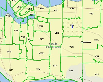 Vancouver Canada Zip Code Map Mapcruzin Free GIS Tools, Resources and Maps: 2012