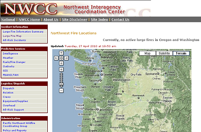 Northwest Interagency Coordination Center Fire Maps