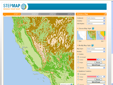 StepMap Free Interactive Maps