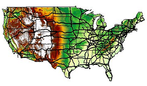 climate change future temperature and precipitation shapefiles