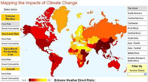 Interactive maps show effects of climate change for 233 countries climate change shapefiles theses interactive maps show rankings for 233 countries of the world gumiabroncs Image collections